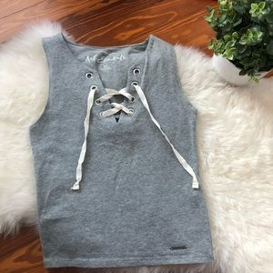 Abercrombie & Fitch Lace Up Tank Top